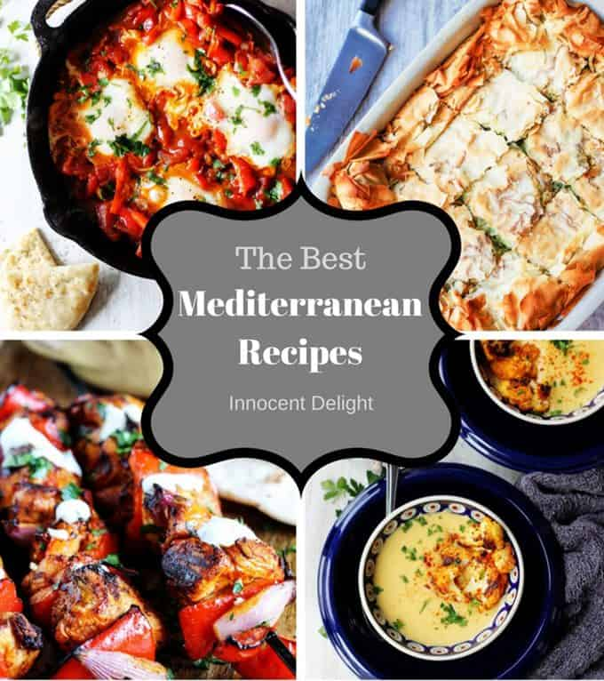 Collage of the Best Mediterranean Recipes