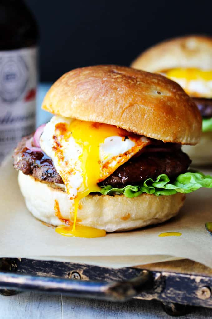 Smoky BBQ Burger with Garlic Aioli & Fried Egg - Eating European