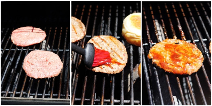 Grilling burgers step by step