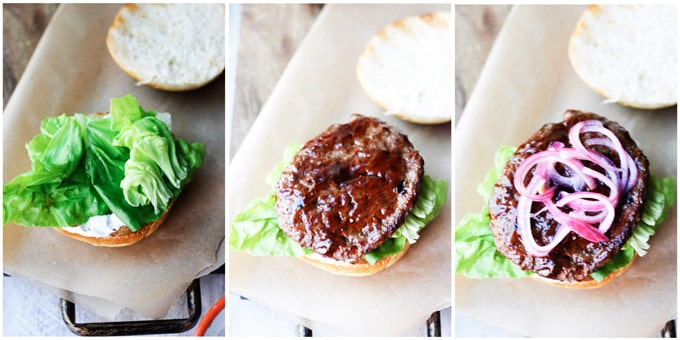 Assembling smoky burgers step by step