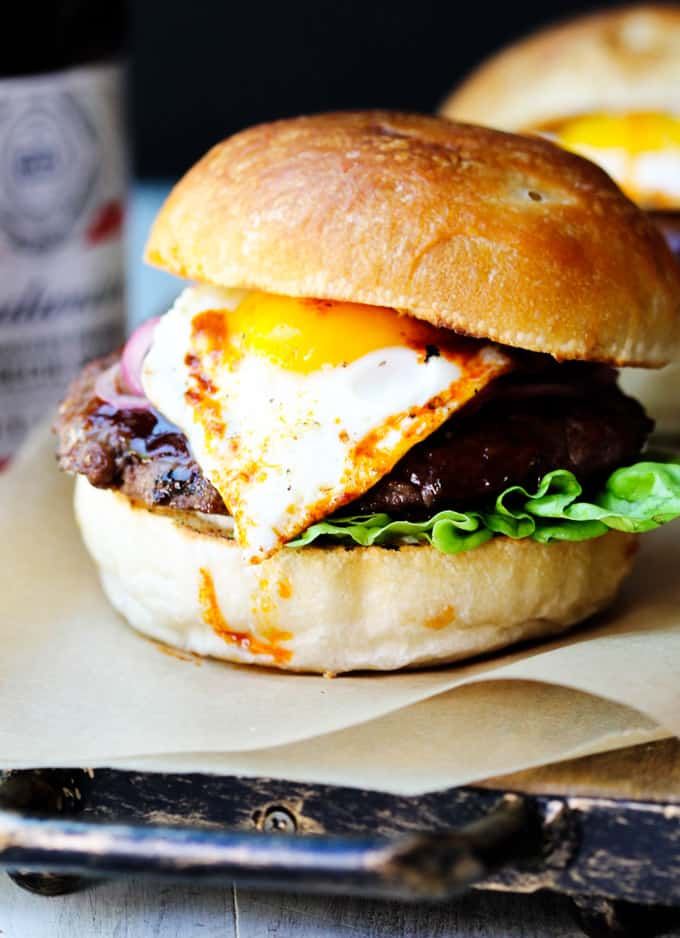 Smoky Burger with fried egg