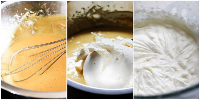 Process shots of making Tiramisu