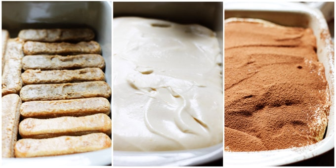 How to make tiramisu - process shots