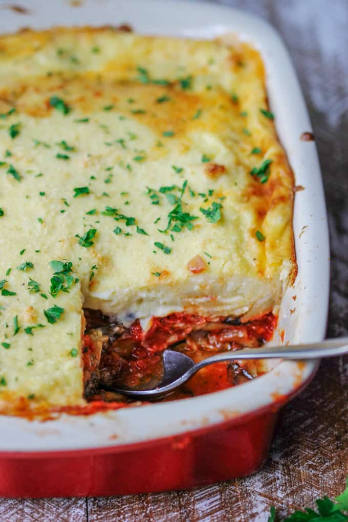 Vegetarian Moussaka Classic Greek Casserole Eating European