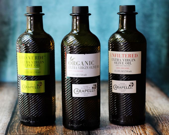 3 bottles of Carapelli Olive Oils