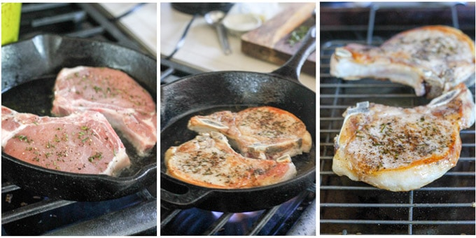 steps to make pork chops in a skillet
