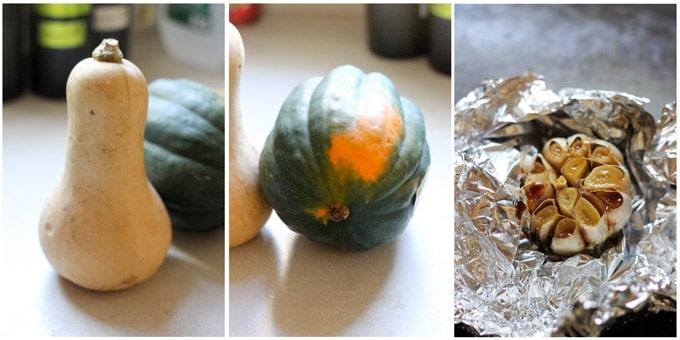 Process shots of making squash gratin