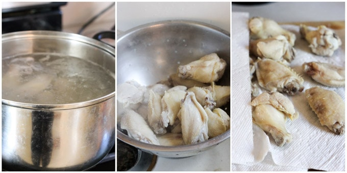 Steps to make crispy chicken wings in the oven