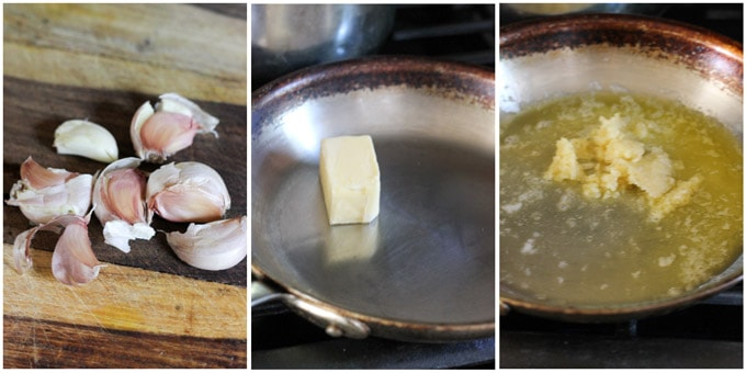 Steps to make parmesan garlic sauce