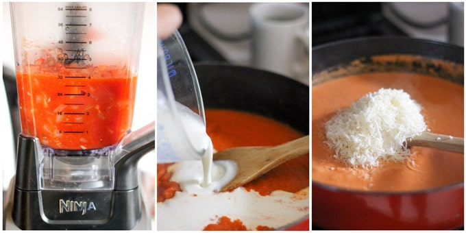 steps to make vodka sauce