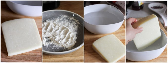 Process of making Saganaki