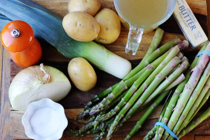 Ingredients for Spring Green Asparagus Soup